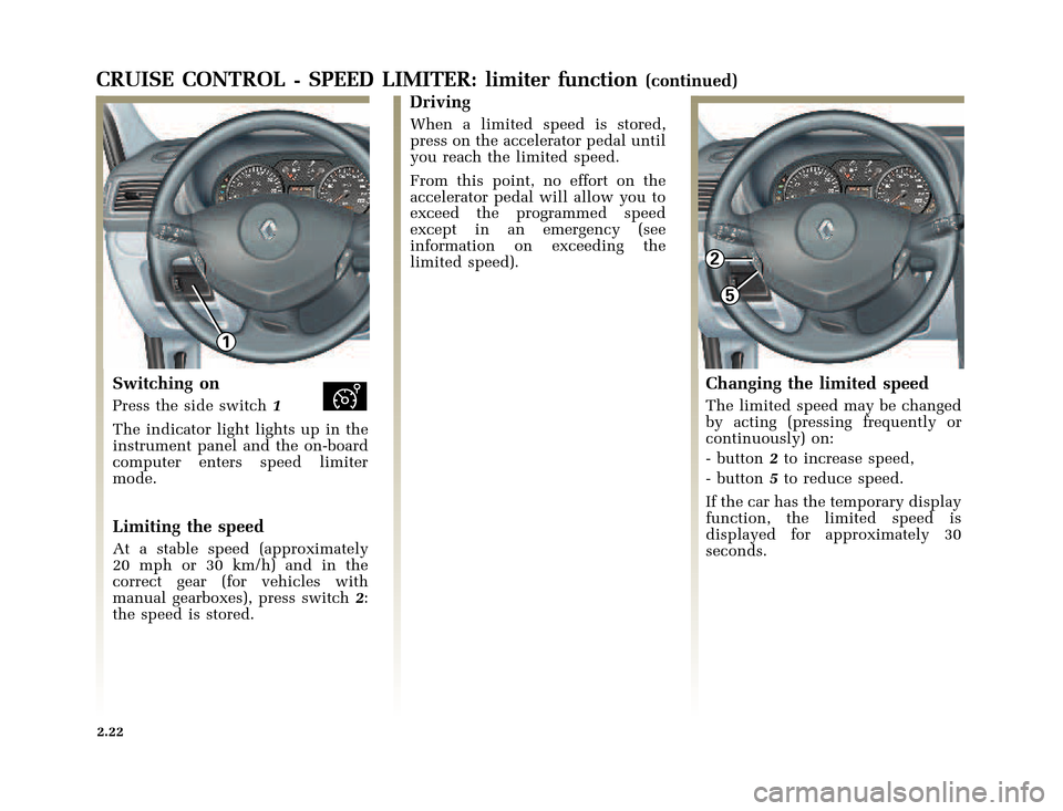 RENAULT CLIO 2003 X65 / 2.G Owners Manual, Page 94