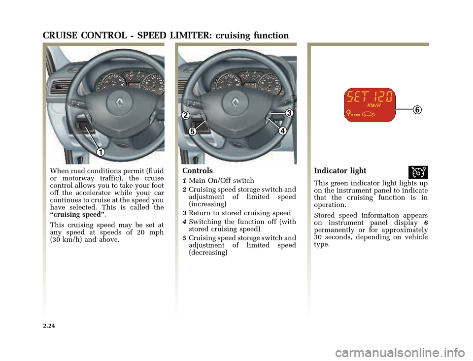 RENAULT CLIO 2003 X65 / 2.G Owners Manual, Page 96