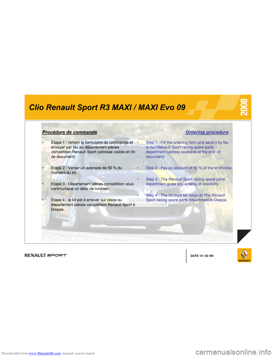 RENAULT CLIO 2008 X85 / 3.G Information Manual, Page 11