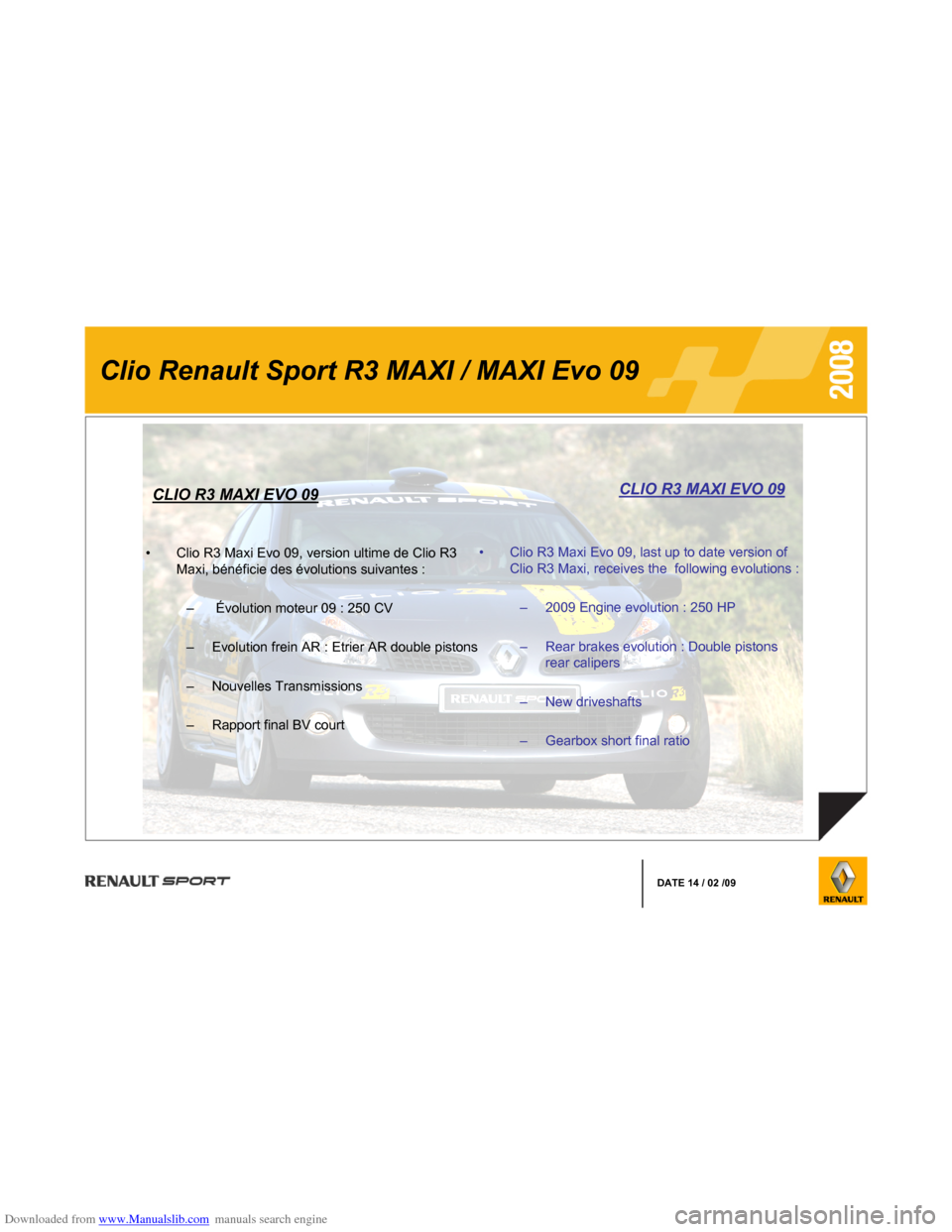 RENAULT CLIO 2008 X85 / 3.G Information Manual, Page 3