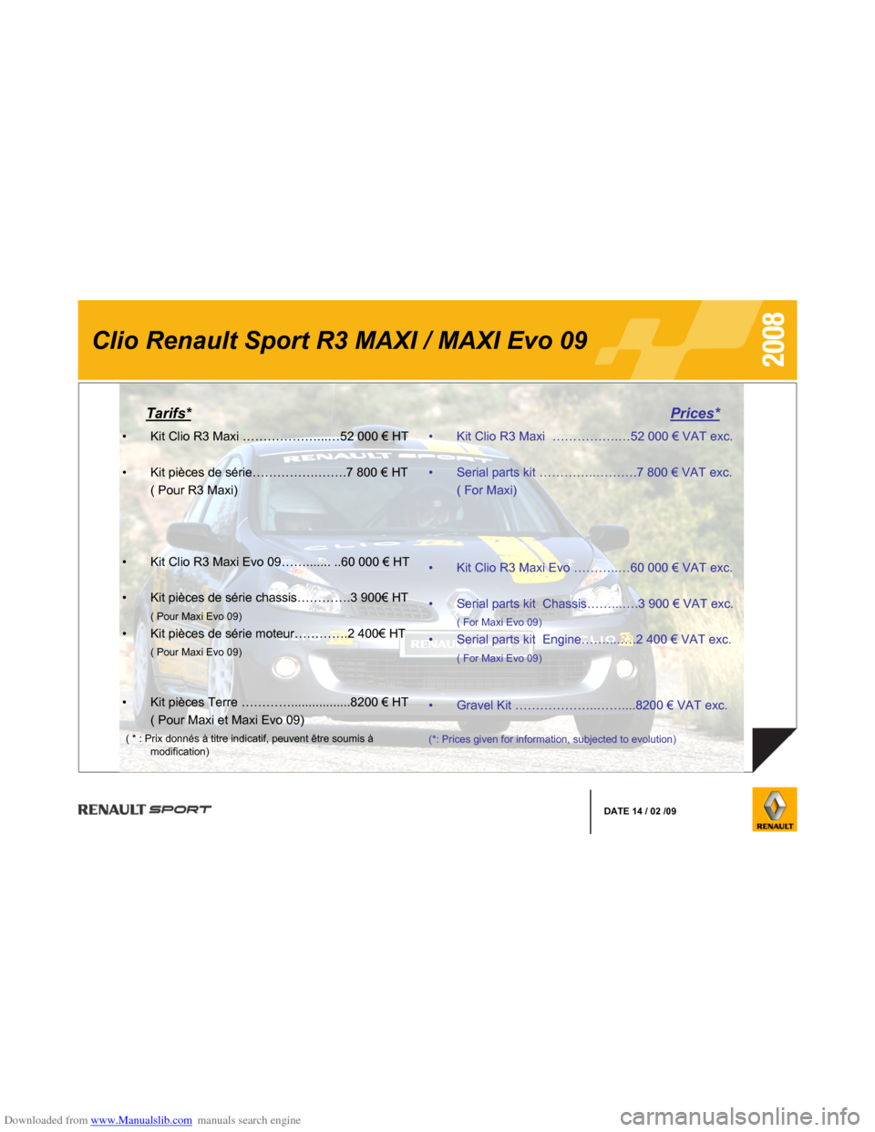 RENAULT CLIO 2008 X85 / 3.G Information Manual, Page 5