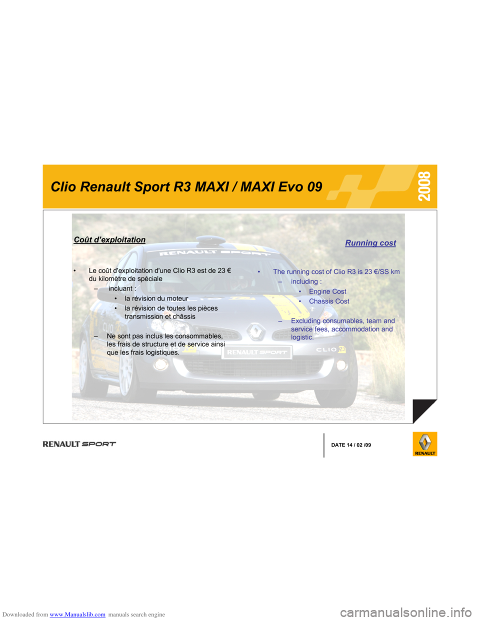 RENAULT CLIO 2008 X85 / 3.G Information Manual, Page 9
