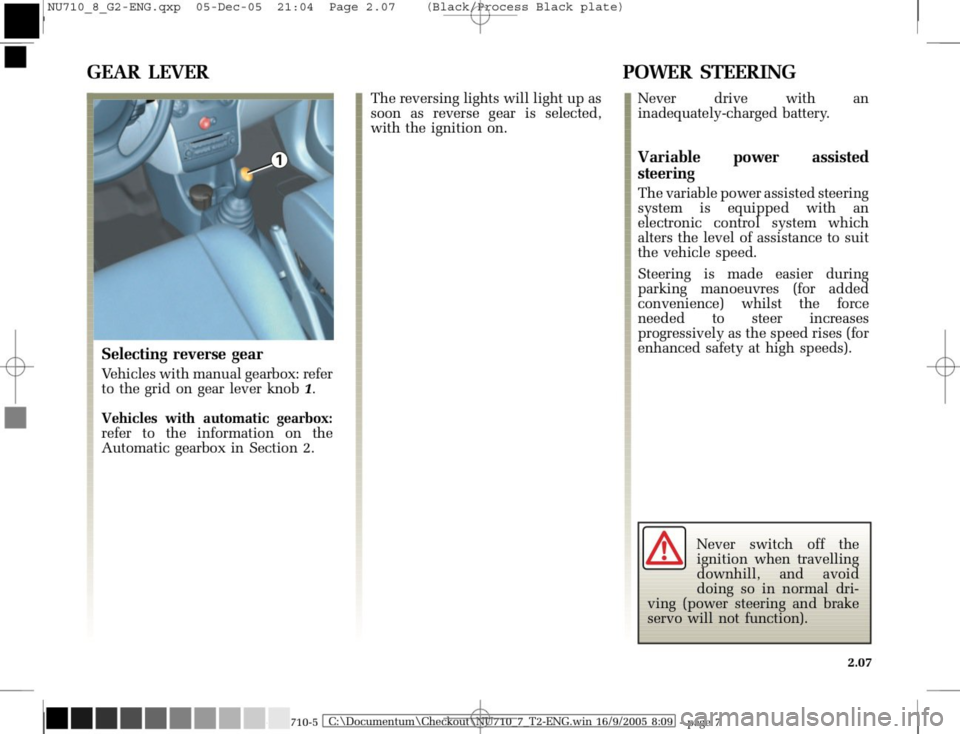 RENAULT MODUS 2008 1.G Owners Manual, Page 103