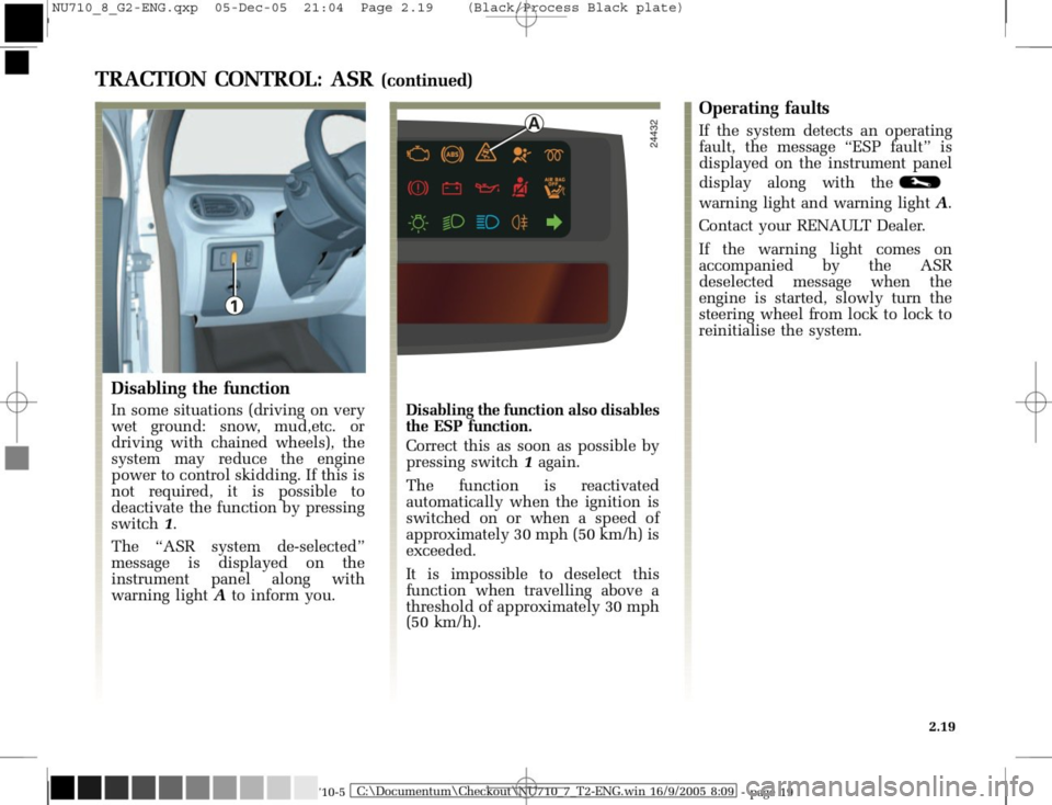 RENAULT MODUS 2008 1.G Owners Manual, Page 115