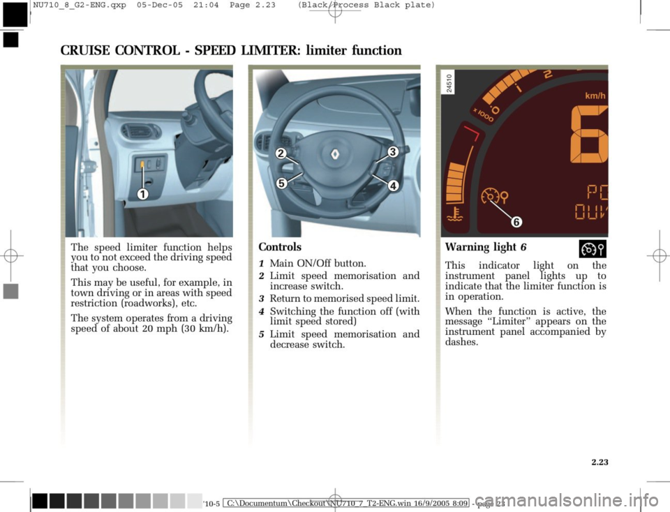 RENAULT MODUS 2008 1.G Owners Manual, Page 119