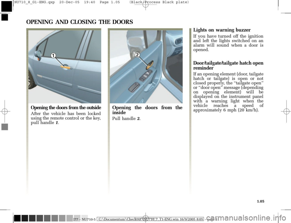 RENAULT MODUS 2008 1.G Owners Manual, Page 13