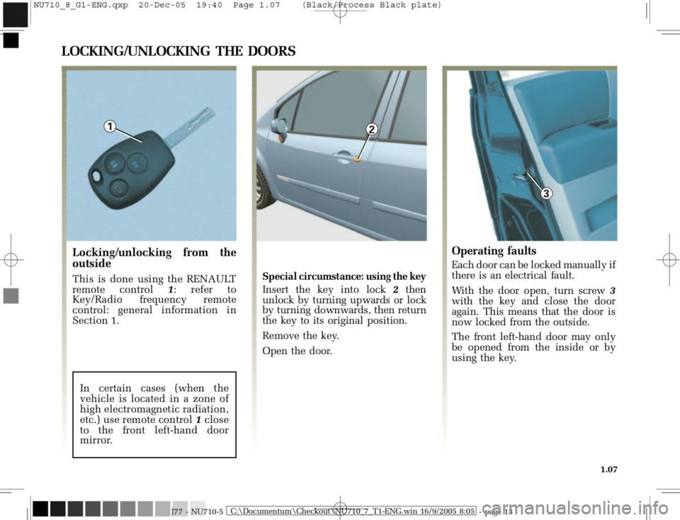 RENAULT MODUS 2008 1.G Owners Manual, Page 15