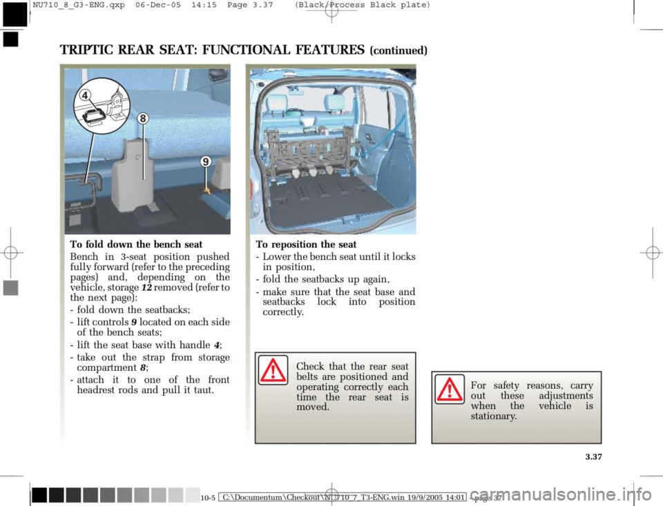 RENAULT MODUS 2008 1.G Owners Manual, Page 173