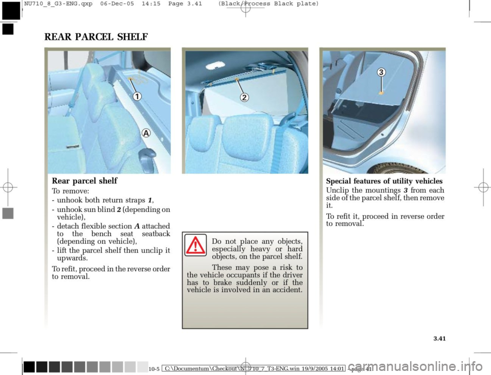 RENAULT MODUS 2008 1.G Owners Manual, Page 177