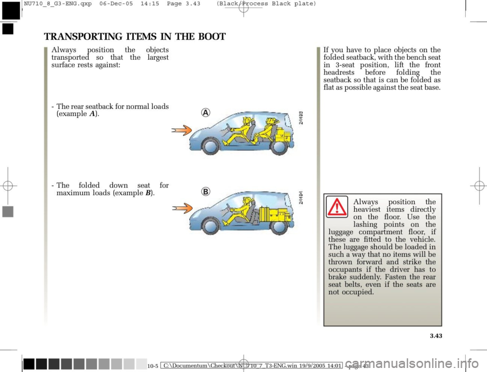 RENAULT MODUS 2008 1.G Owners Manual, Page 179