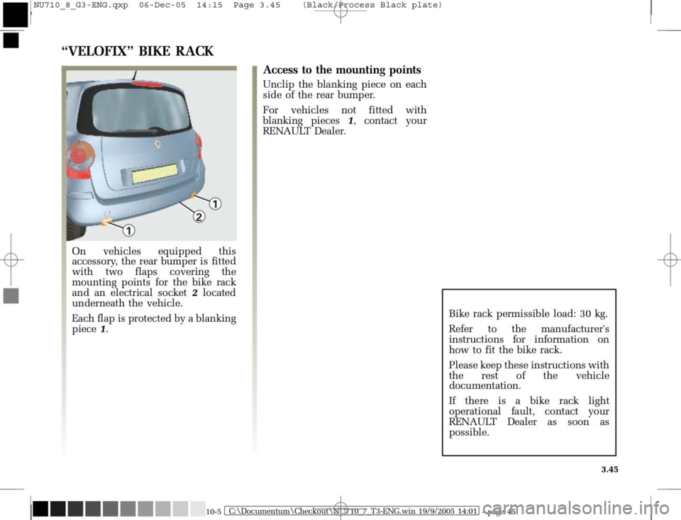 RENAULT MODUS 2008 1.G Owners Manual, Page 181