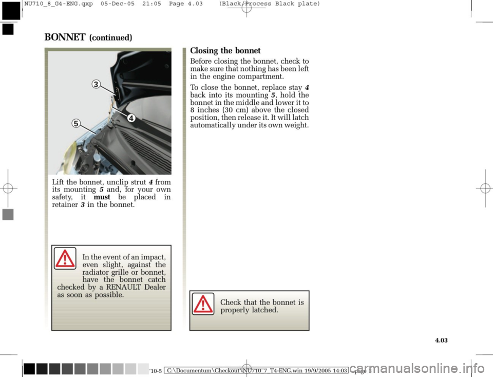 RENAULT MODUS 2008 1.G Owners Manual, Page 185
