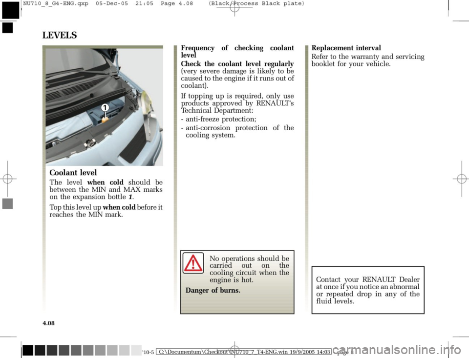 RENAULT MODUS 2008 1.G Owners Manual, Page 190