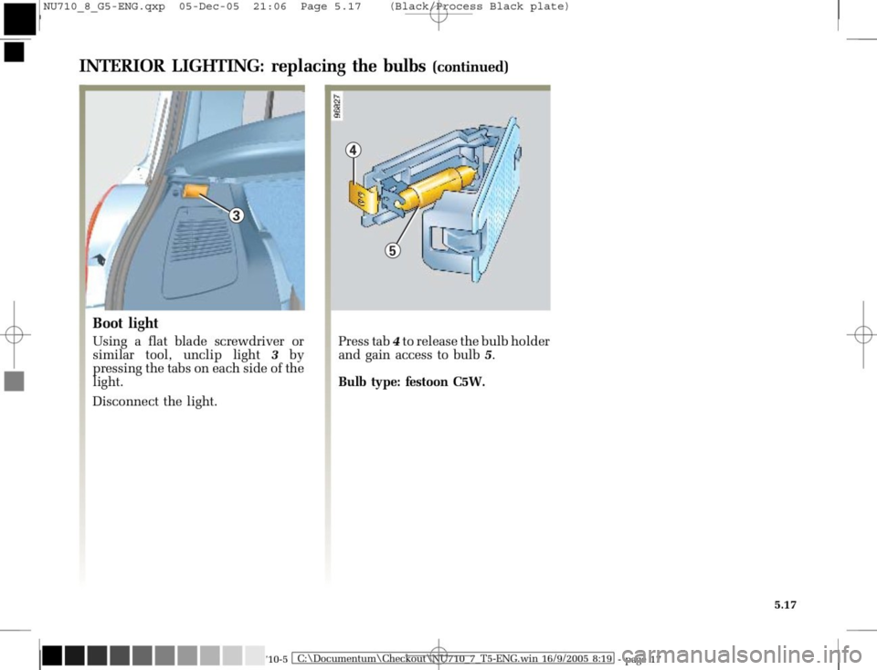 RENAULT MODUS 2008 1.G Owners Manual, Page 213