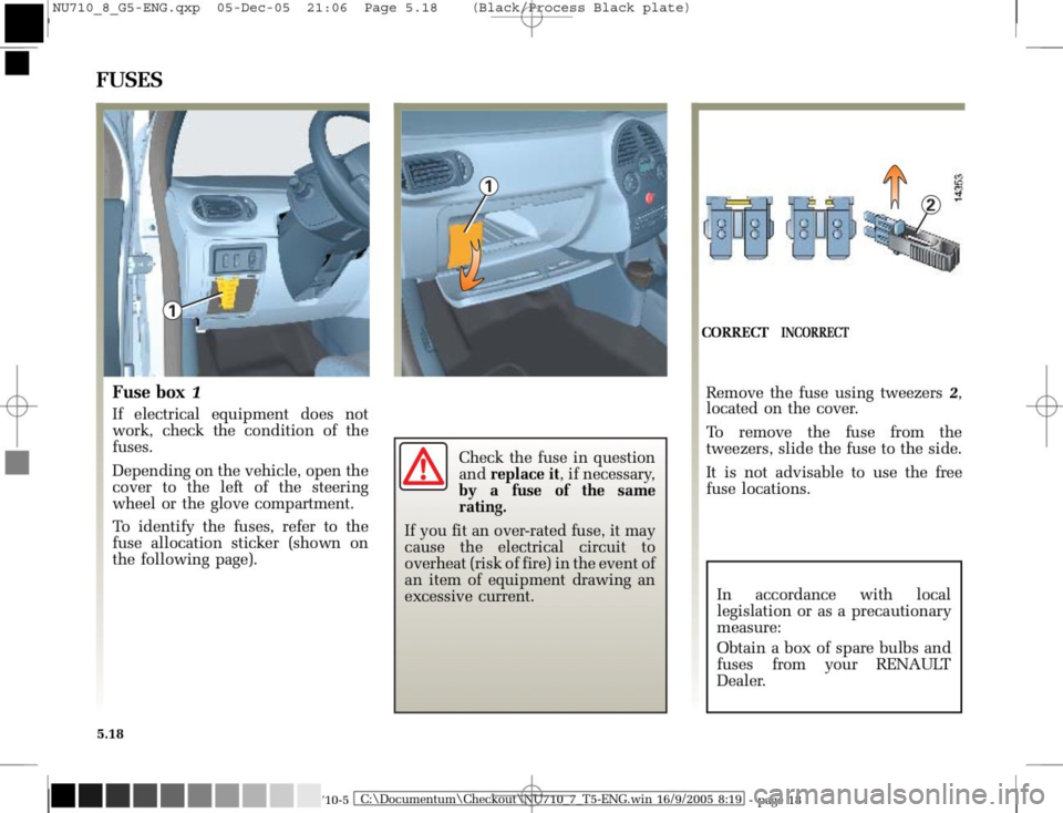 RENAULT MODUS 2008 1.G Owners Manual, Page 214
