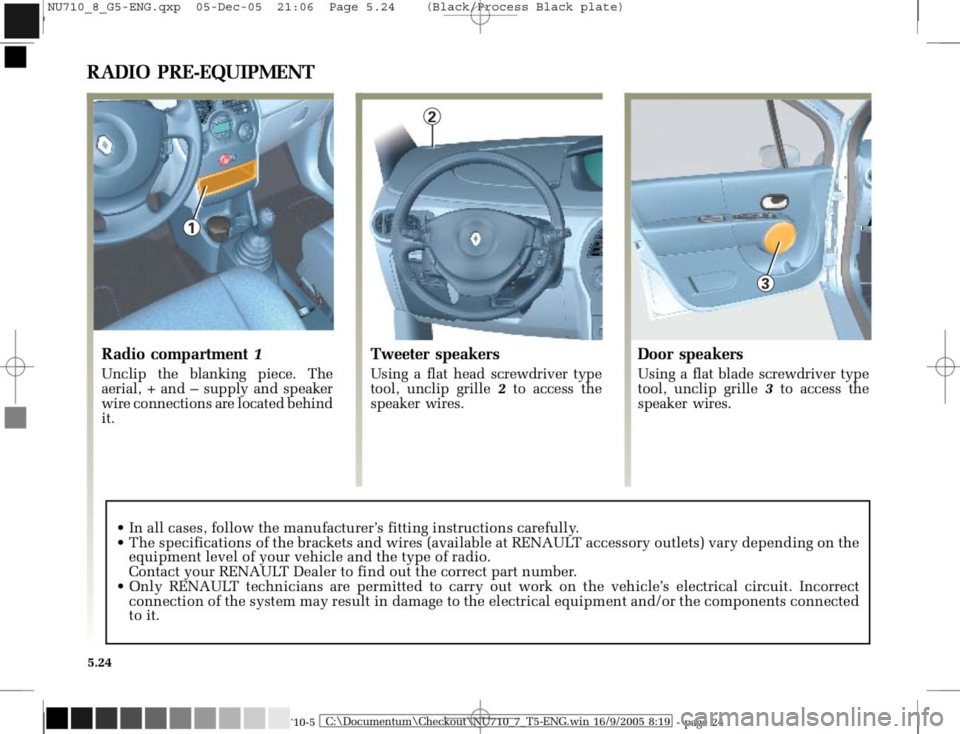 RENAULT MODUS 2008 1.G Owners Manual, Page 220