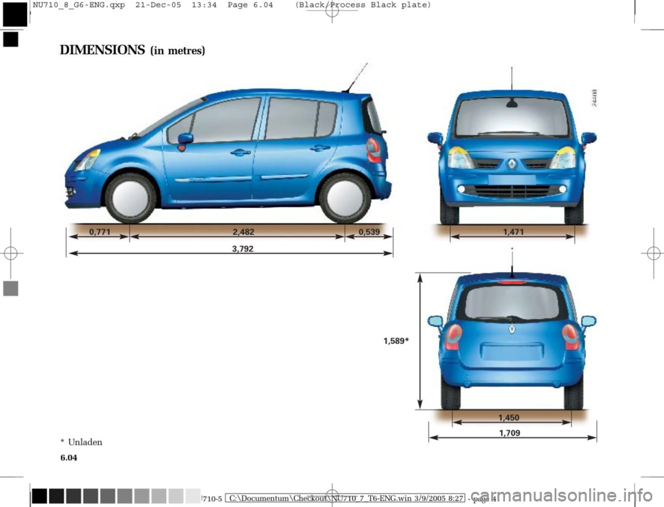 RENAULT MODUS 2008 1.G Owners Manual