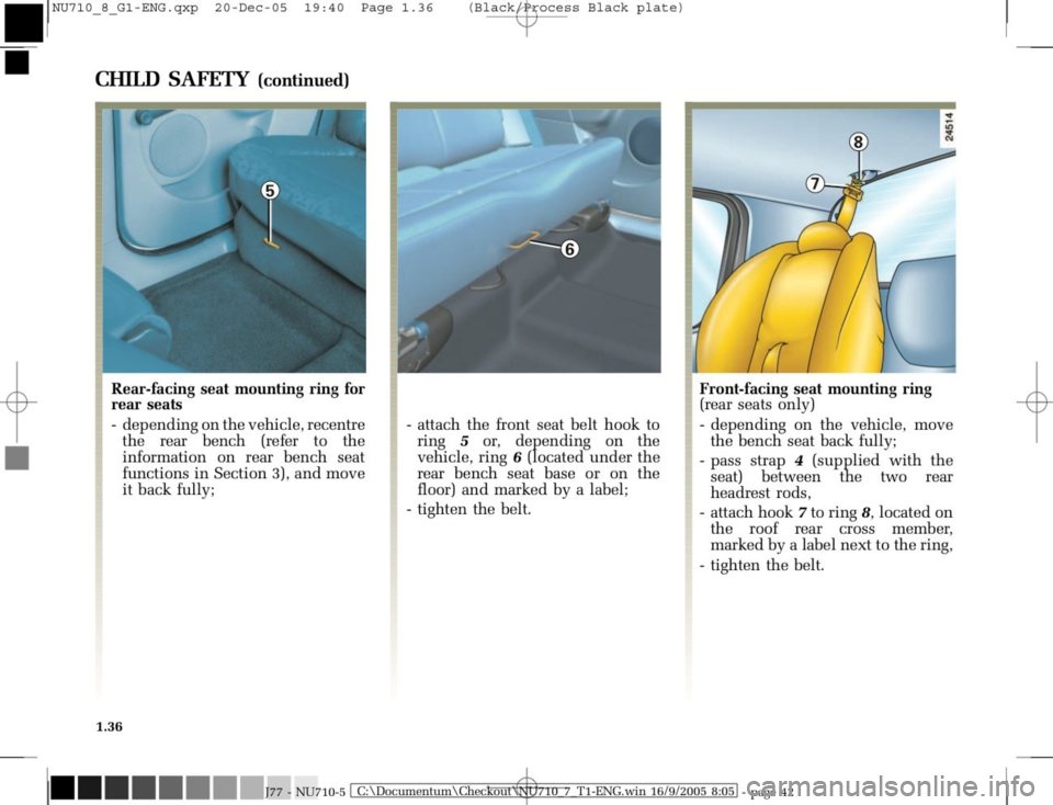 RENAULT MODUS 2008 1.G Owners Manual, Page 44