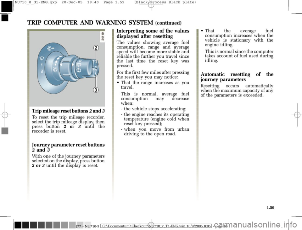 RENAULT MODUS 2008 1.G Owners Manual, Page 67