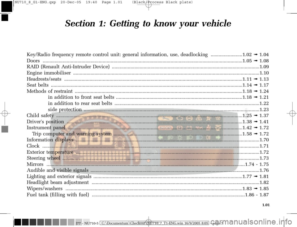 RENAULT MODUS 2008 1.G Owners Manual, Page 9