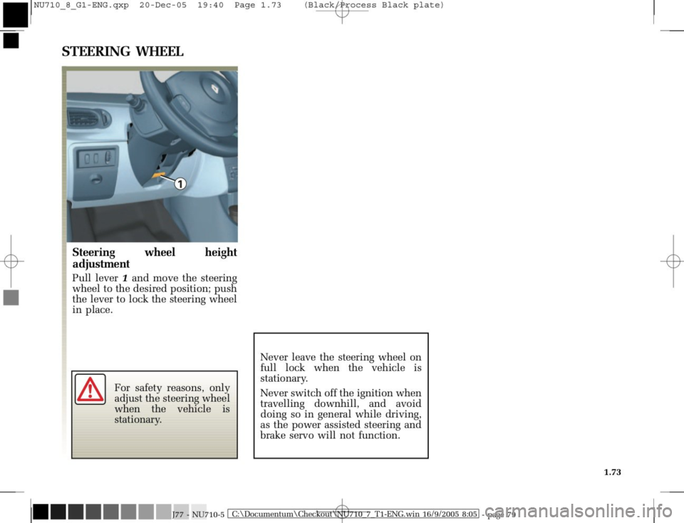 RENAULT MODUS 2008 1.G Owners Manual, Page 81