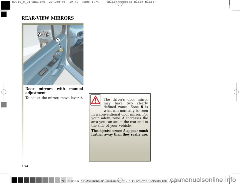 RENAULT MODUS 2008 1.G Owners Manual, Page 82