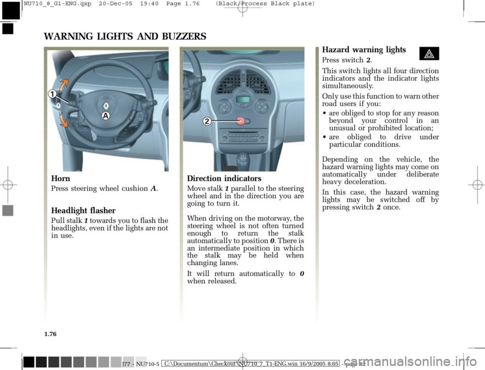 RENAULT MODUS 2008 1.G Owners Manual, Page 84
