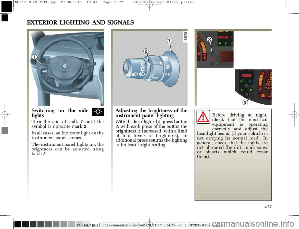 RENAULT MODUS 2008 1.G Owners Manual, Page 85