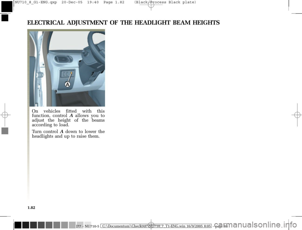RENAULT MODUS 2008 1.G Owners Manual, Page 90