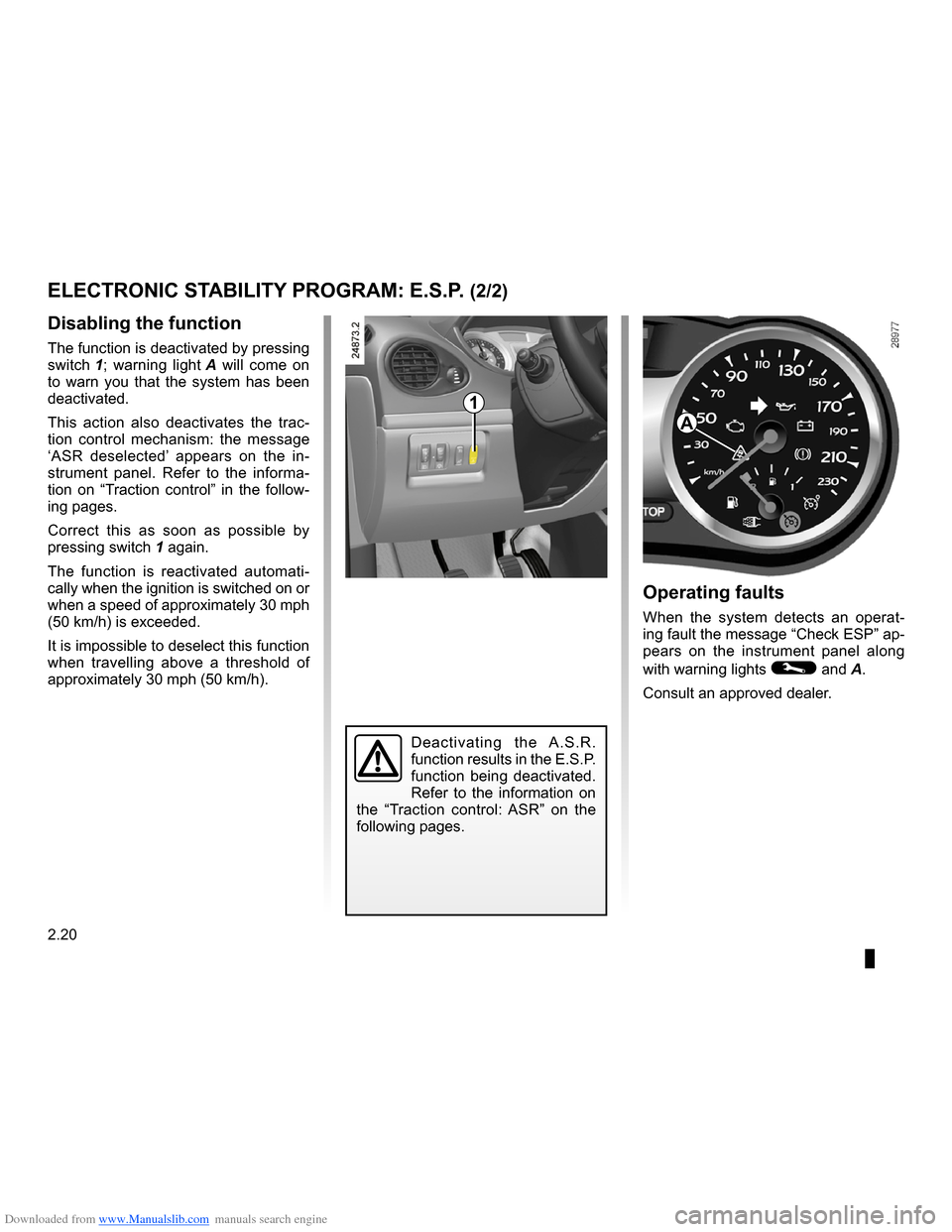 RENAULT CLIO 2009 X85 / 3.G Owners Manual, Page 112