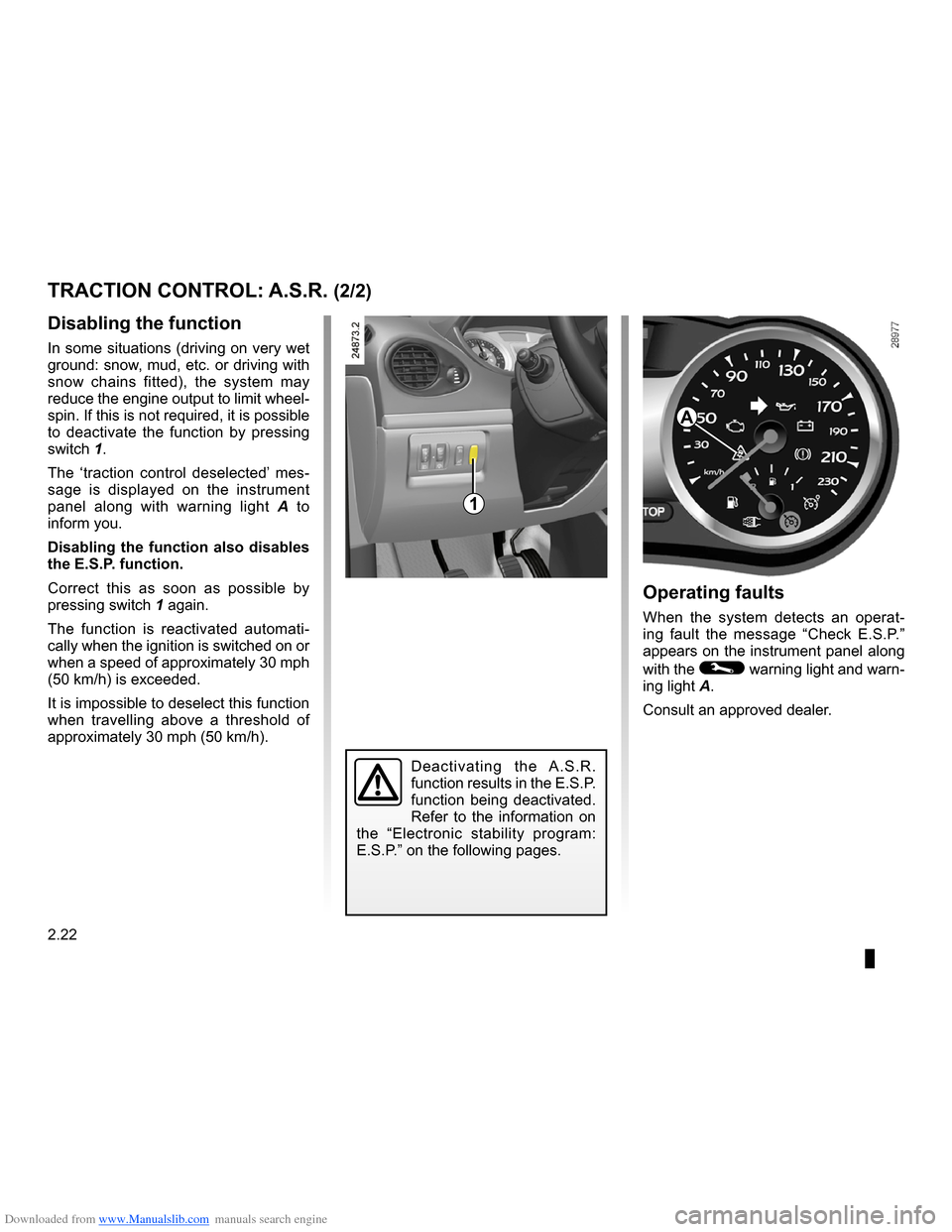 RENAULT CLIO 2009 X85 / 3.G Owners Manual, Page 114