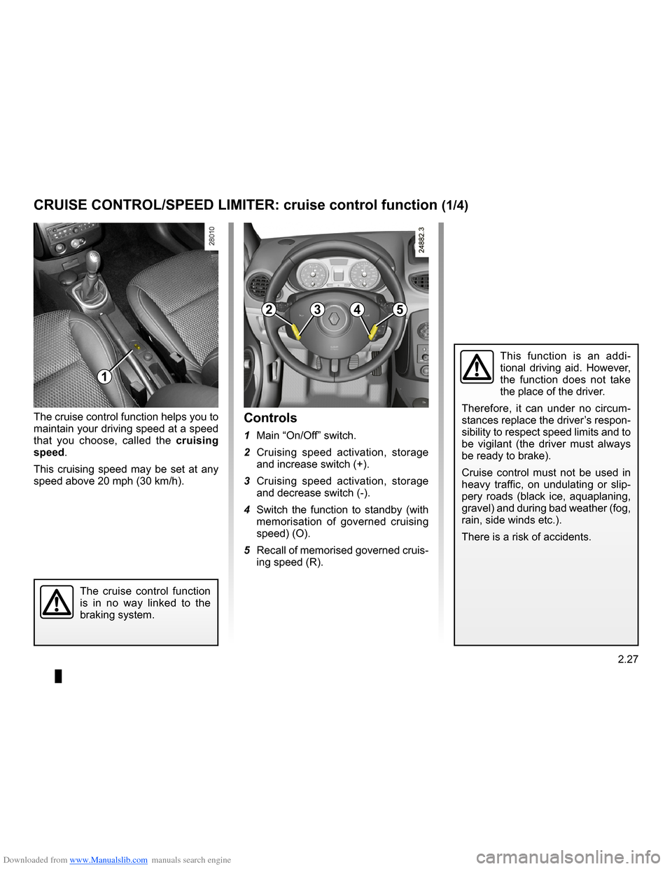 RENAULT CLIO 2009 X85 / 3.G Owners Manual, Page 119