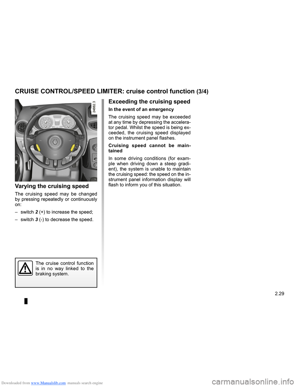 RENAULT CLIO 2009 X85 / 3.G Owners Manual, Page 121