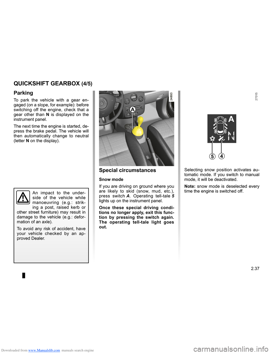 RENAULT CLIO 2009 X85 / 3.G Owners Manual, Page 129
