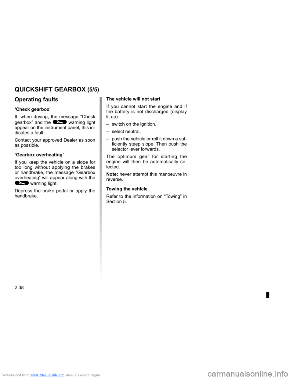 RENAULT CLIO 2009 X85 / 3.G Owners Manual, Page 130