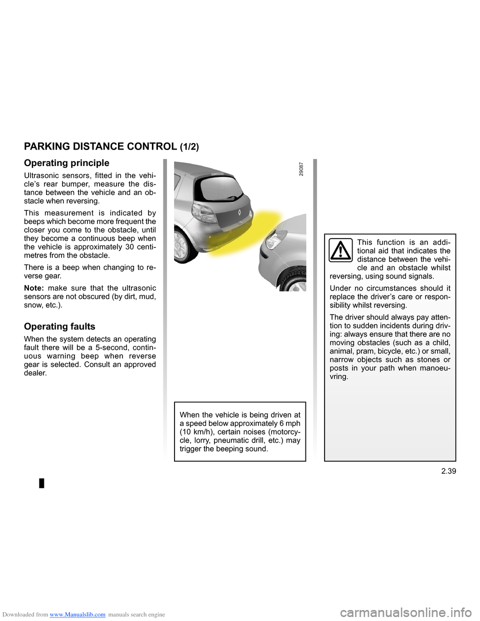 RENAULT CLIO 2009 X85 / 3.G Owners Manual, Page 131
