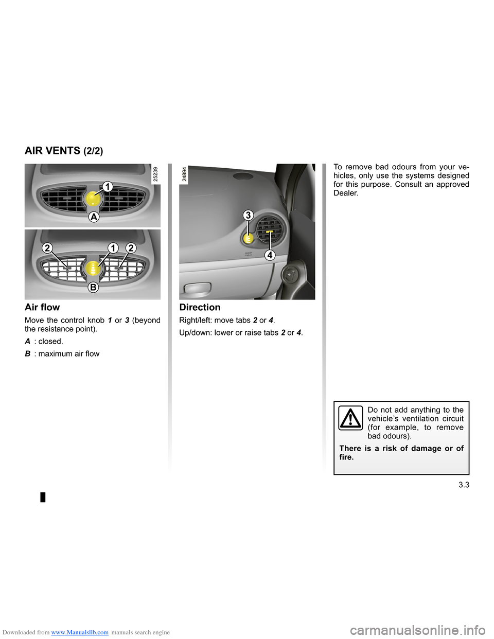 RENAULT CLIO 2009 X85 / 3.G Owners Manual, Page 135