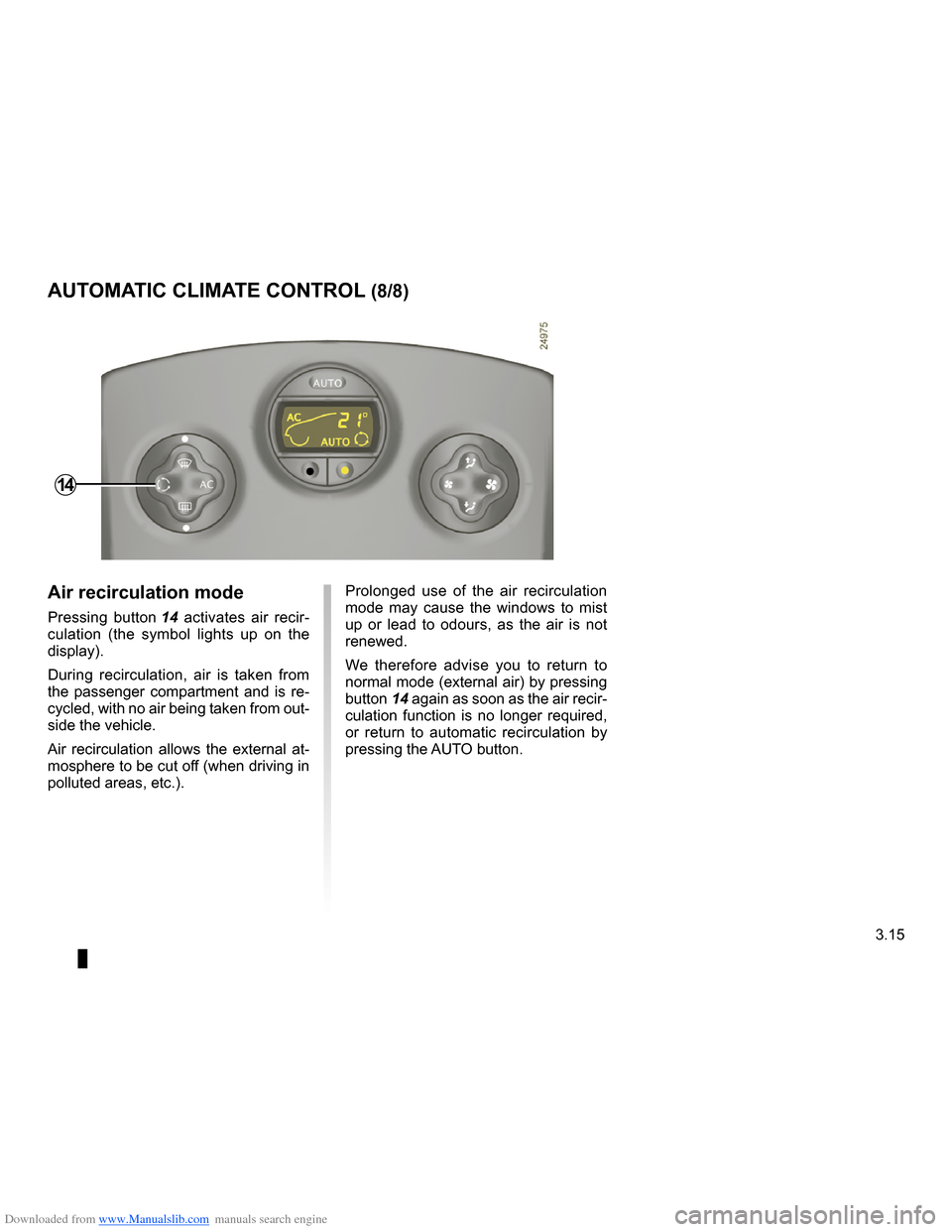 RENAULT CLIO 2009 X85 / 3.G Owners Manual, Page 147
