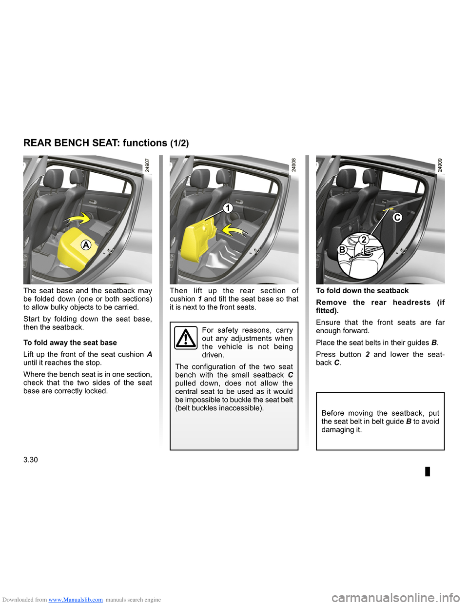RENAULT CLIO 2009 X85 / 3.G Owners Manual, Page 162