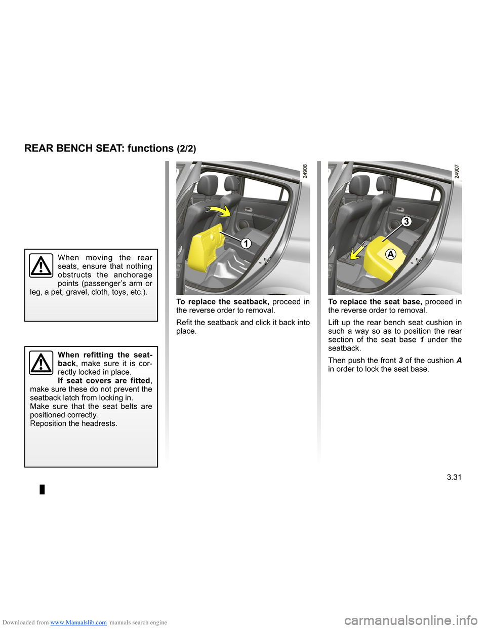 RENAULT CLIO 2009 X85 / 3.G Owners Manual, Page 163