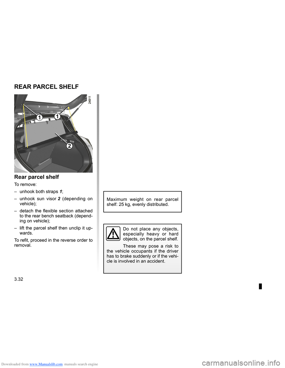 RENAULT CLIO 2009 X85 / 3.G Owners Manual, Page 164
