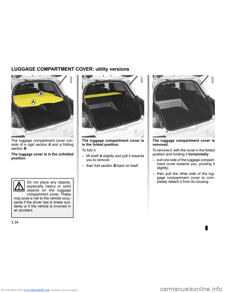 RENAULT CLIO 2009 X85 / 3.G Owners Manual, Page 166