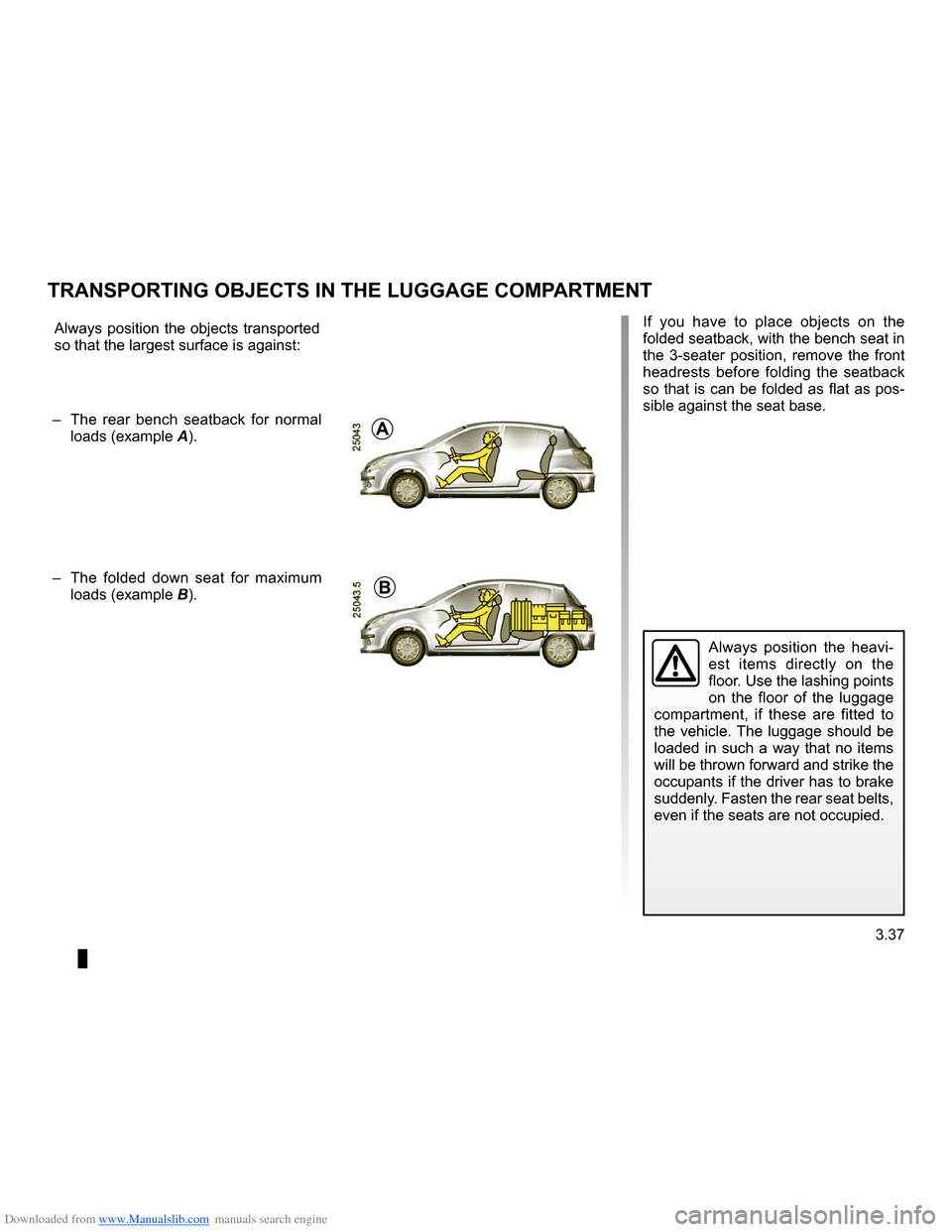 RENAULT CLIO 2009 X85 / 3.G Owners Manual, Page 169