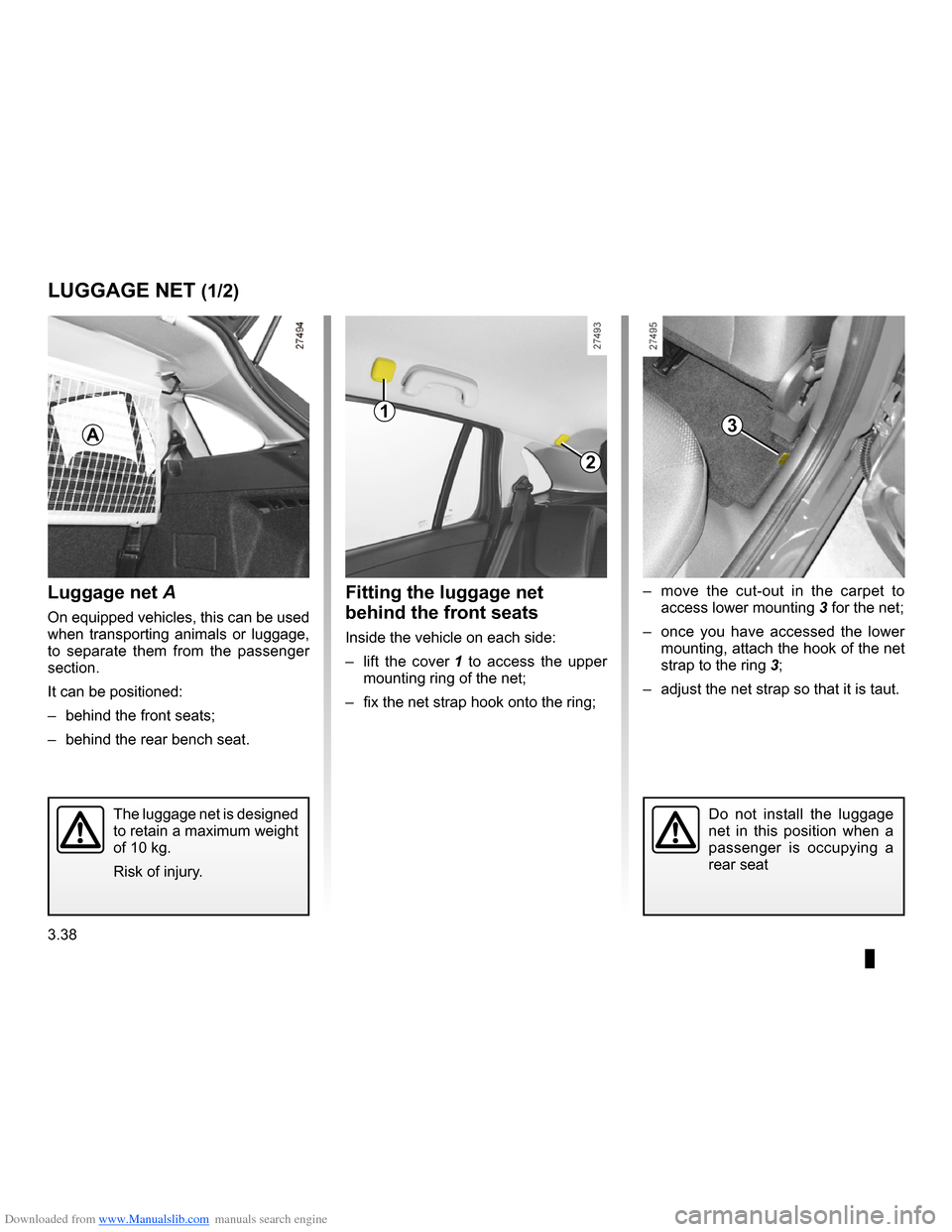 RENAULT CLIO 2009 X85 / 3.G Owners Manual, Page 170