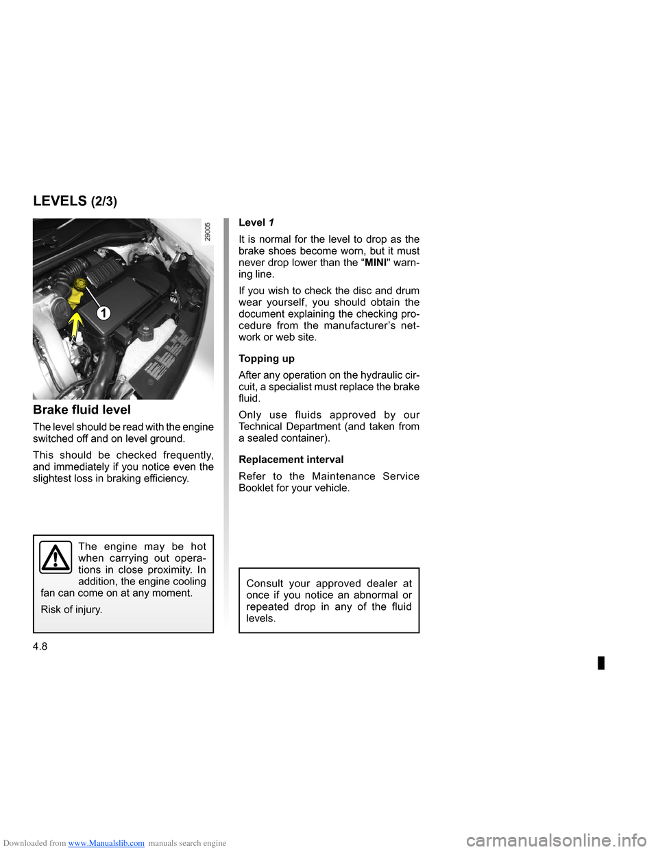 RENAULT CLIO 2009 X85 / 3.G Owners Manual, Page 182