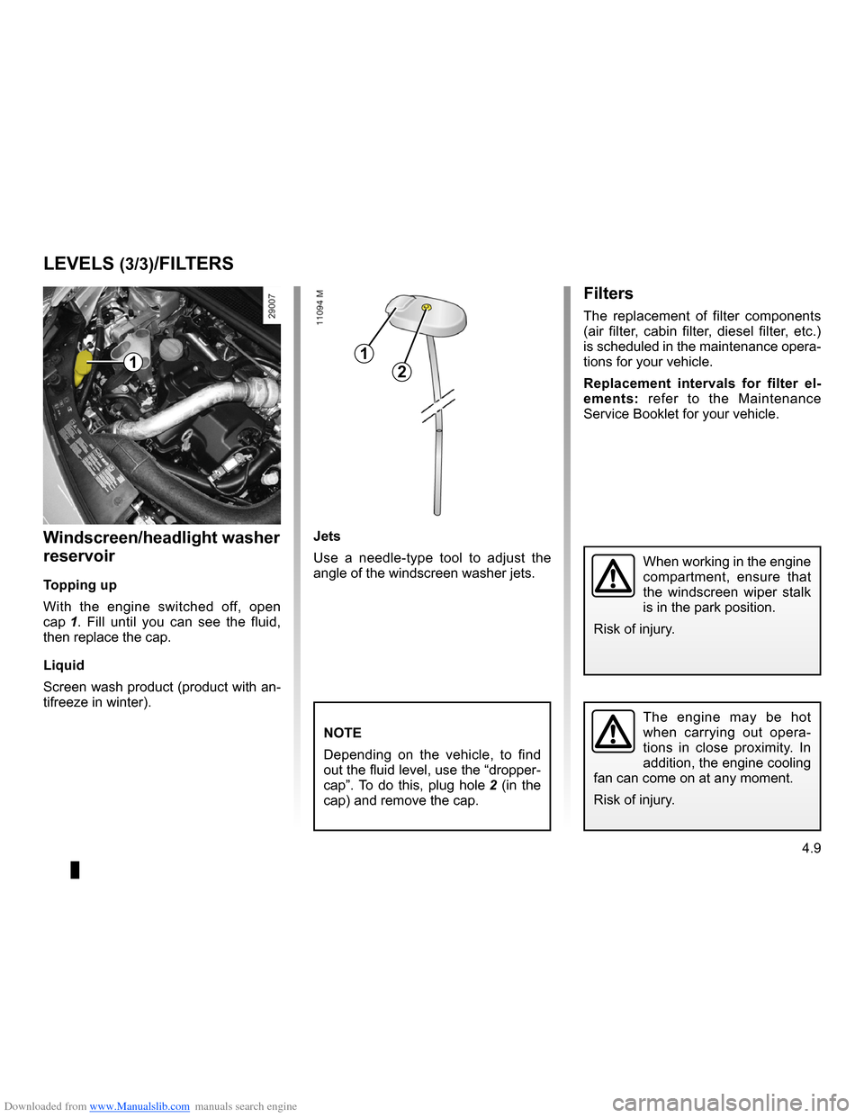 RENAULT CLIO 2009 X85 / 3.G Owners Manual, Page 183