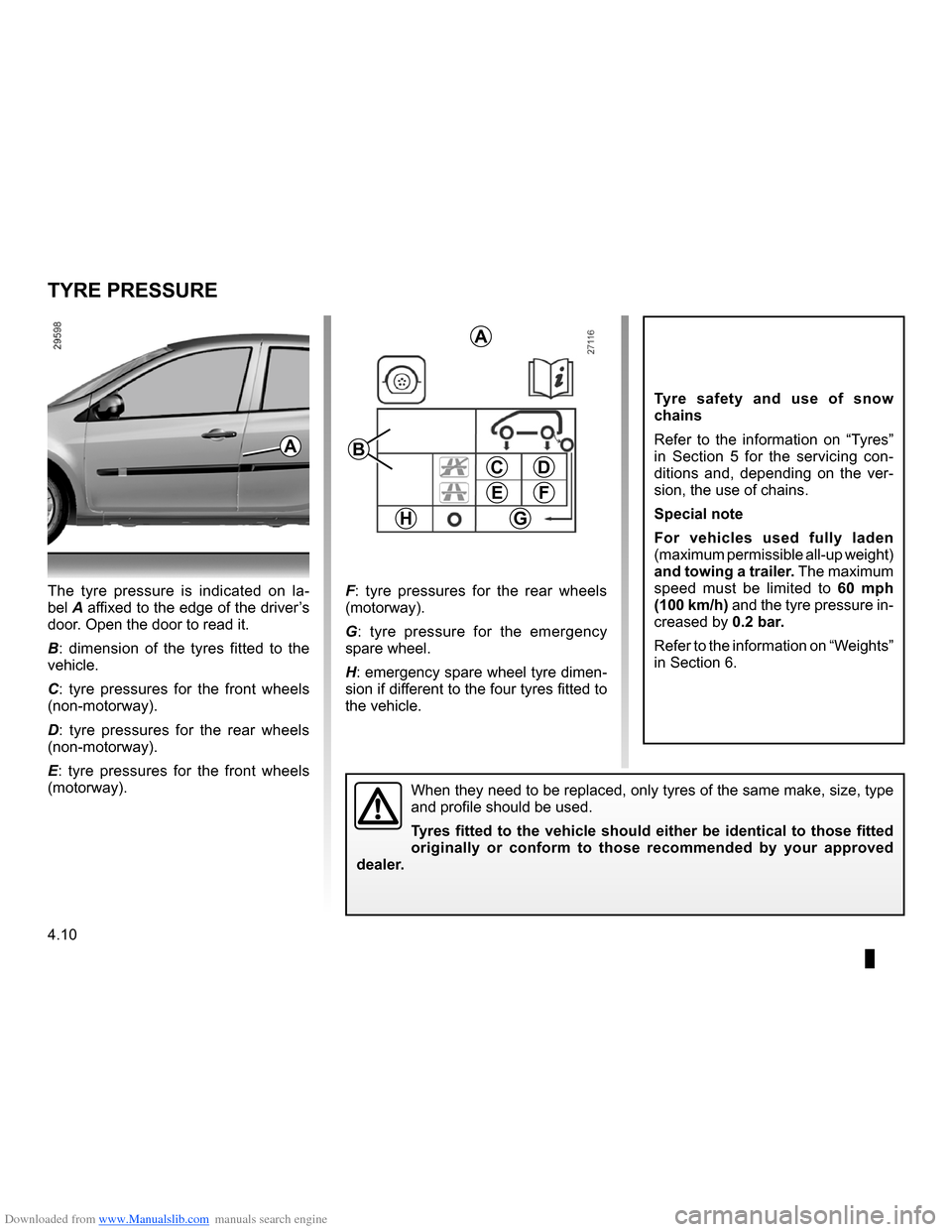 RENAULT CLIO 2009 X85 / 3.G Owners Manual, Page 184