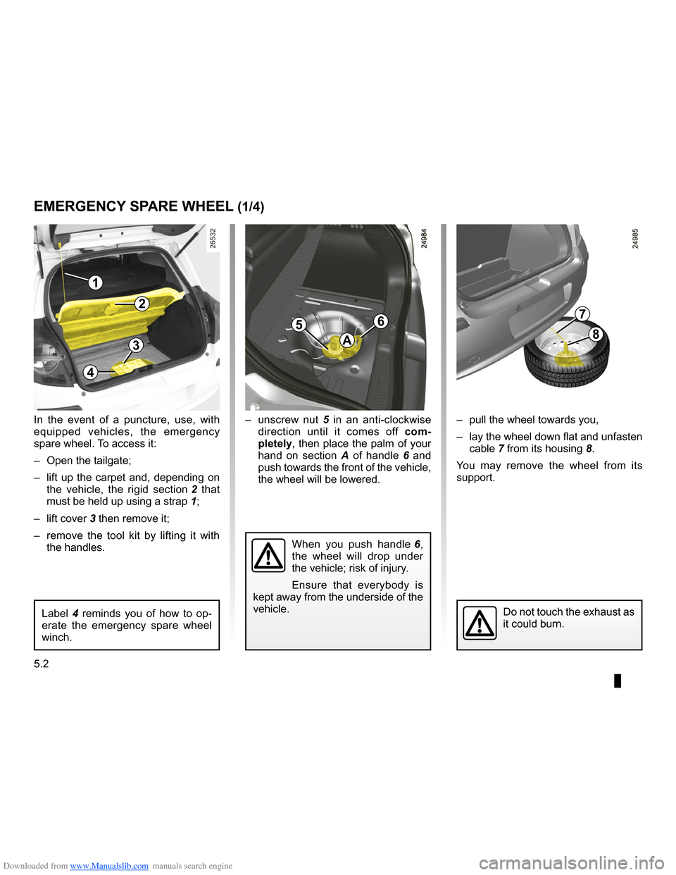 RENAULT CLIO 2009 X85 / 3.G Owners Manual, Page 190