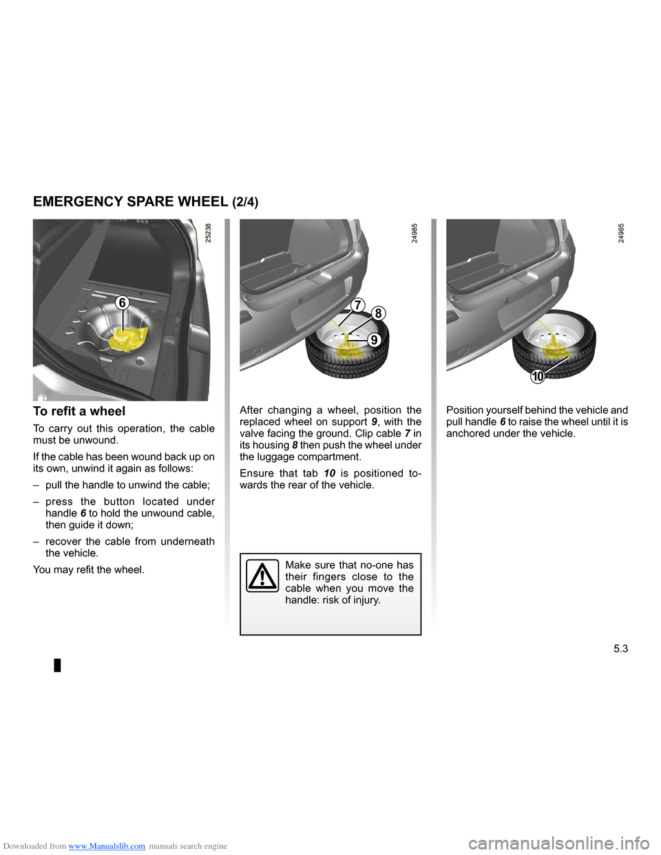 RENAULT CLIO 2009 X85 / 3.G Owners Manual, Page 191
