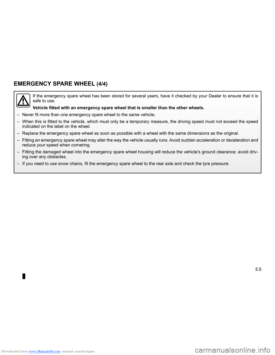 RENAULT CLIO 2009 X85 / 3.G Owners Manual, Page 193